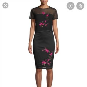 NWOT Galmorous embroidered pencil skirt